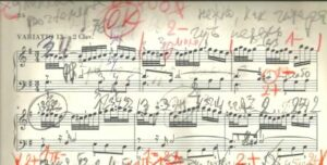 Andrei Gavrilov's score of the Goldberg Variations