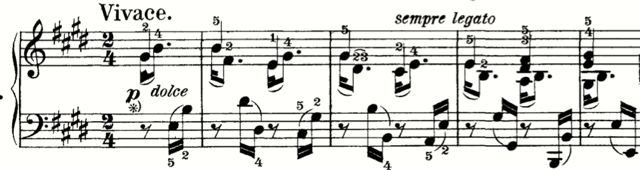 Op. 109 first movement (opening)