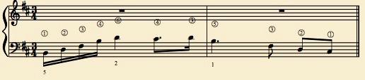 Chopin B minor phrase