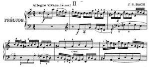 Czerny's edition of Bach's English Suite in A minor